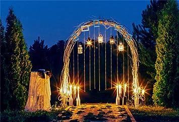 CSFOTO 10 x 7 pies fondo romántico arco en jardín noche fotografía ...