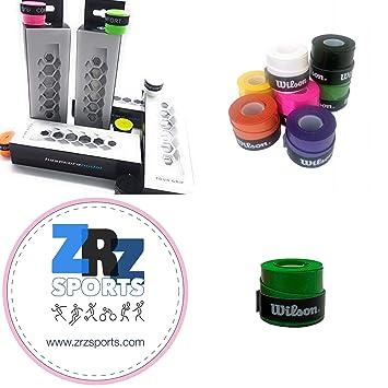 ZRZ Pack Grip Padel HESACORE Tour Grip + 1und overgrip Wilson Confort Verde: Amazon.es: Deportes y aire libre