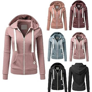 CROFULL Fleece Full-Zip Hoodie Sweatshirt Basic Long SleeveJacket for Women with Plus Size