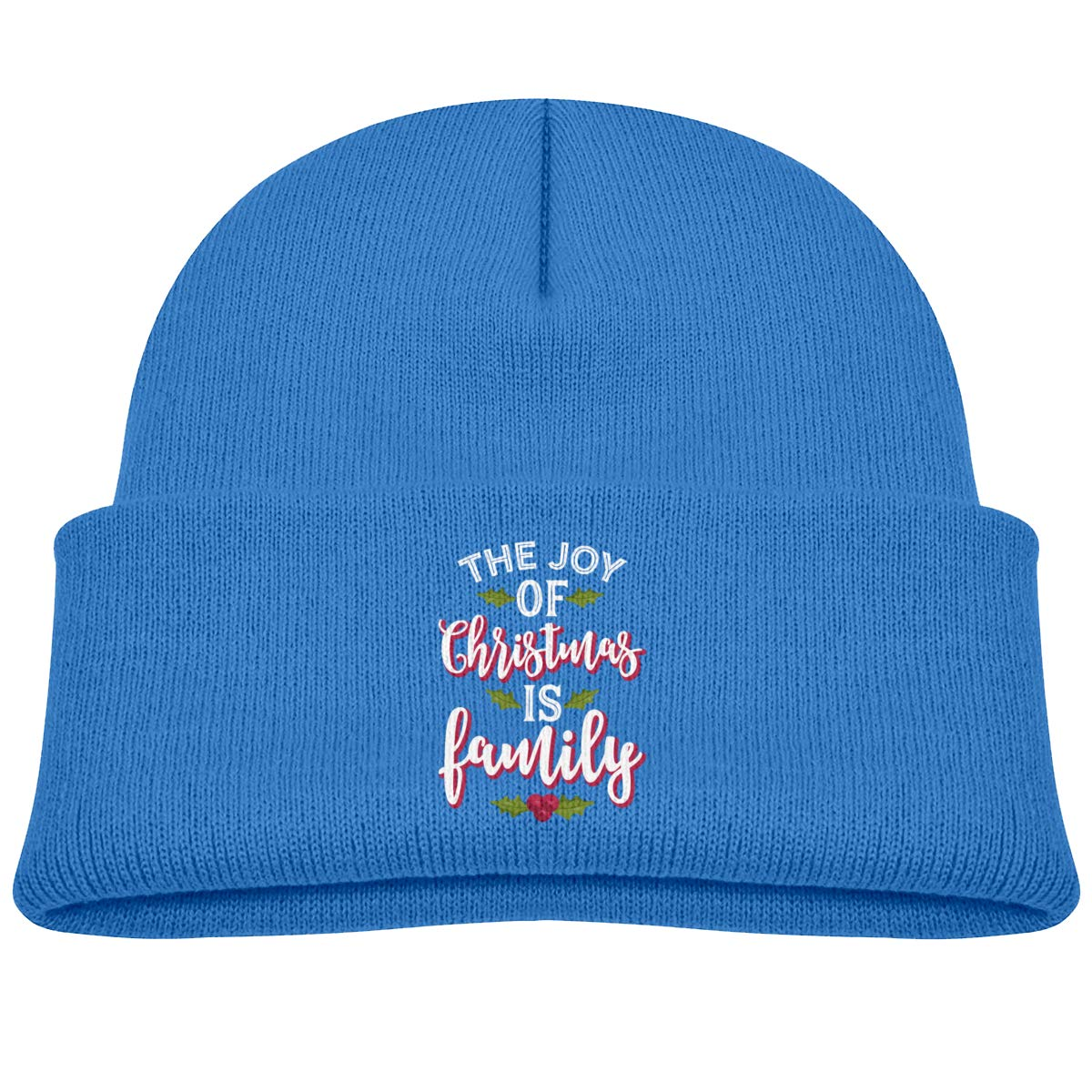 The Joy of Christmas is Family Infant Knit Hats Baby Beanie Cap