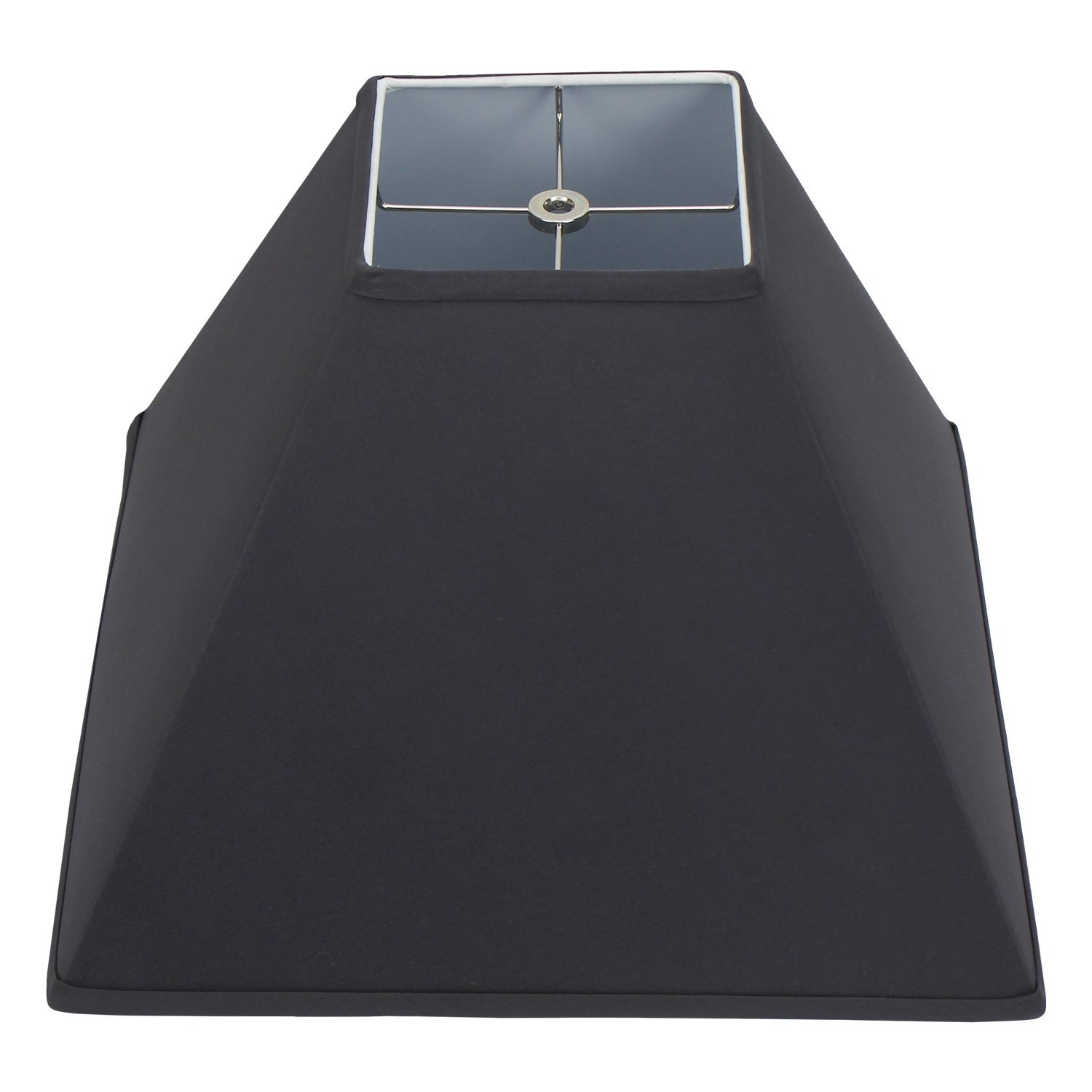 FenchelShades.com 6'' Top Dimension x 16'' Bottom Dimension 12'' Slant Height Lampshade USA Made (Charcoal)