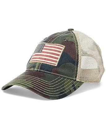 8a44328a Polo Ralph Lauren Men's Trucker Mesh Cap (One Size, Green Heritage (6001)