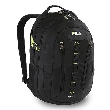 Amazon.com: Fila Vertex Tablet and Laptop School Backpack, Black ...