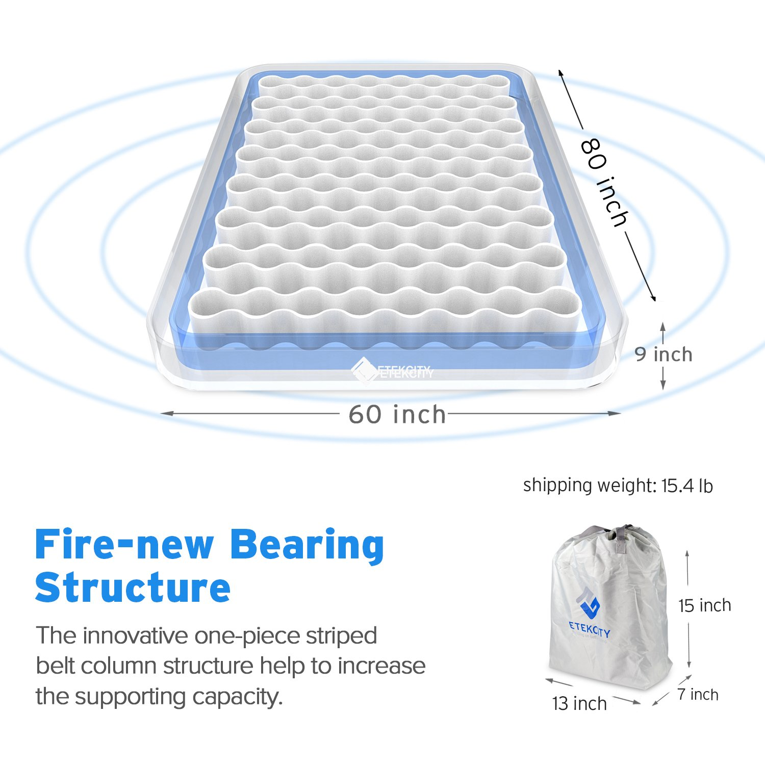 Etekcity Camping Air Mattress Twin And Queen Size Portable