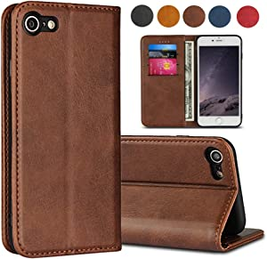 SailorTech for iPhone 7/8/ SE 2020 Case Leather Phone Cover Flip Folio Case with Card Slot,Kickstand,Magnetic Closure Case [ TPU Shockproof Interior Case ] for Apple iPhone 7/8/SE 2,(4.7