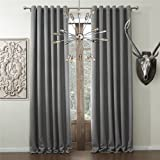 iyuego wide curtains for large windows solid faux linen classic grommet top room