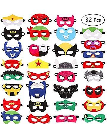 Harxin 32 Piezas Máscaras de Superhéroes Superhéroe Máscara de Fieltro Fiesta de Cumpleaños Favorece Niños Niños