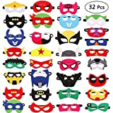 32 Pezzi Maschere Per Bambini Adulti Mascherata Per Feste Mascherine Supereroi Supereroe Maschera Per Feste Per Bambini Supereroe Cosplay Maschere Per Gli Occhi Per Bambini Borse Per Feste Preferito