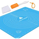 Silicone Baking Mat with Measurements – Heat Resistant, BPA Free, Non-Stick Pastry Mat for Rolling Dough – Easy to Clean Sili