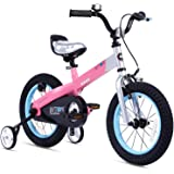 Royalbaby Botones de Bicicleta para niños y niñas, de 3 a 9 años, 12, 14, 16 y 18 Pulgadas, con Soporte para Ruedas de Entren