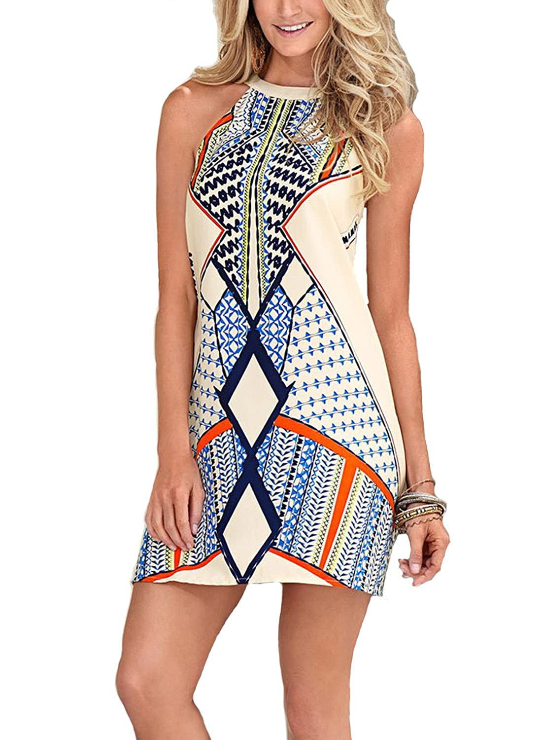 5b328bd89be Design This bold printed dress not only cute but also comfortable!Back  keyhole closes with one buttons Invisible zipper in the back.