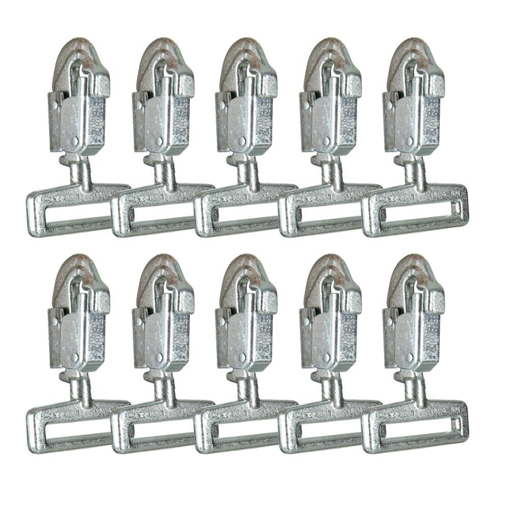Fusion Climb Cobra Carbon Steel Drop Forged Double Lock Snap Hook 10-Pack