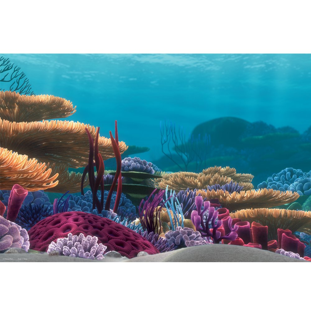 Fish in nemo aquarium - Amazon Com Penn Plax Finding Nemo Ocean Floor Scenery Background 20 Gallon Aquarium Starter Kits Pet Supplies