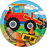 18cm Construction Party Plates, Pack of 8