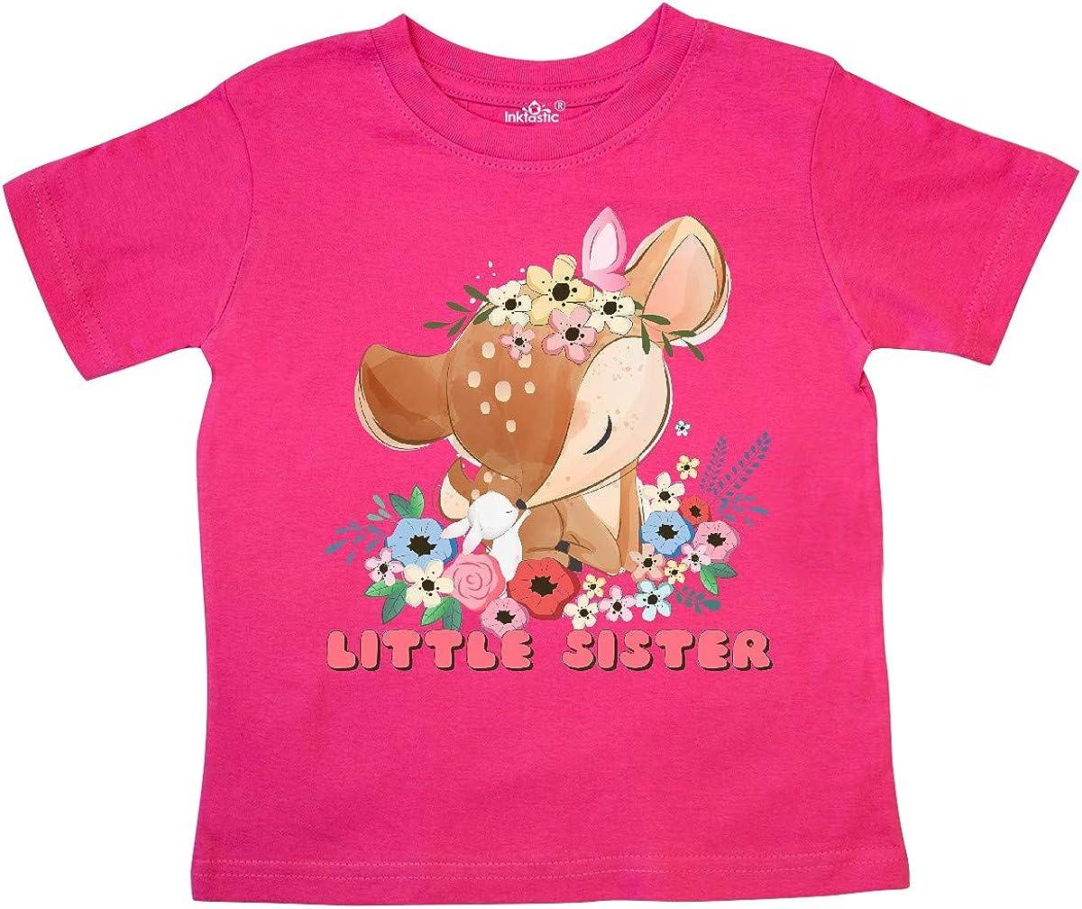 inktastic Little Sister Deer Toddler T-Shirt