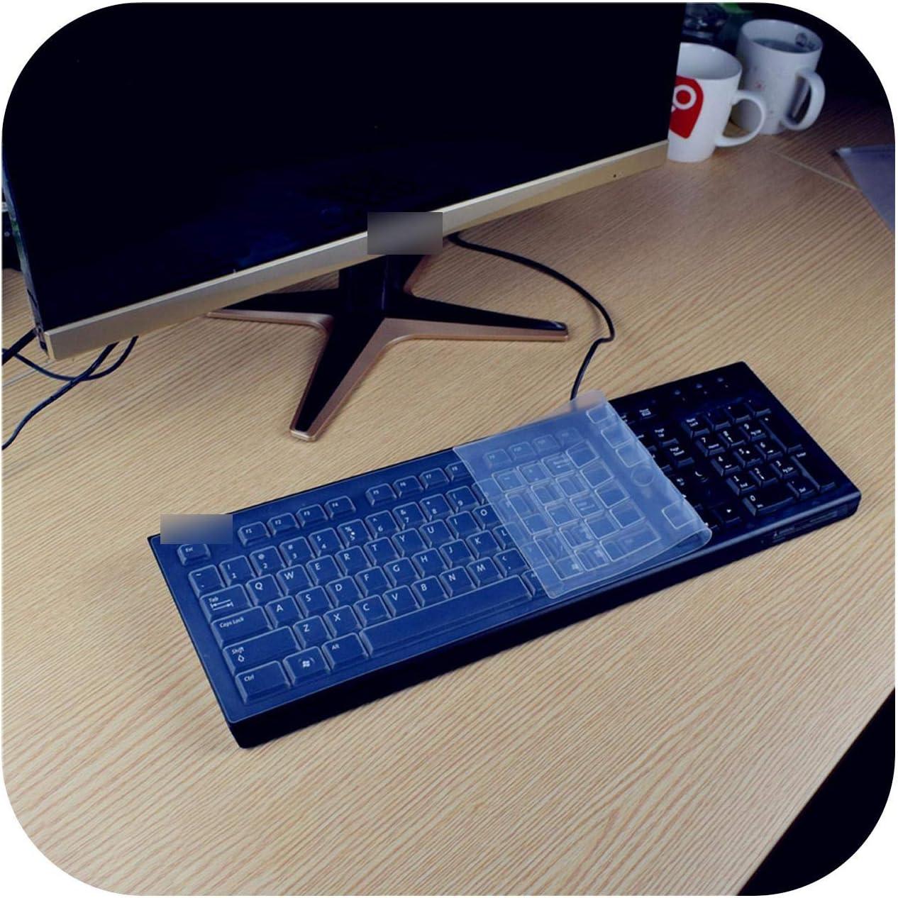 for Hp Compaq Acer Pr1101U Desktop Pc Keyboard Covers Waterproof Dustproof Clear Keyboard Cover Protector Skin-Pink
