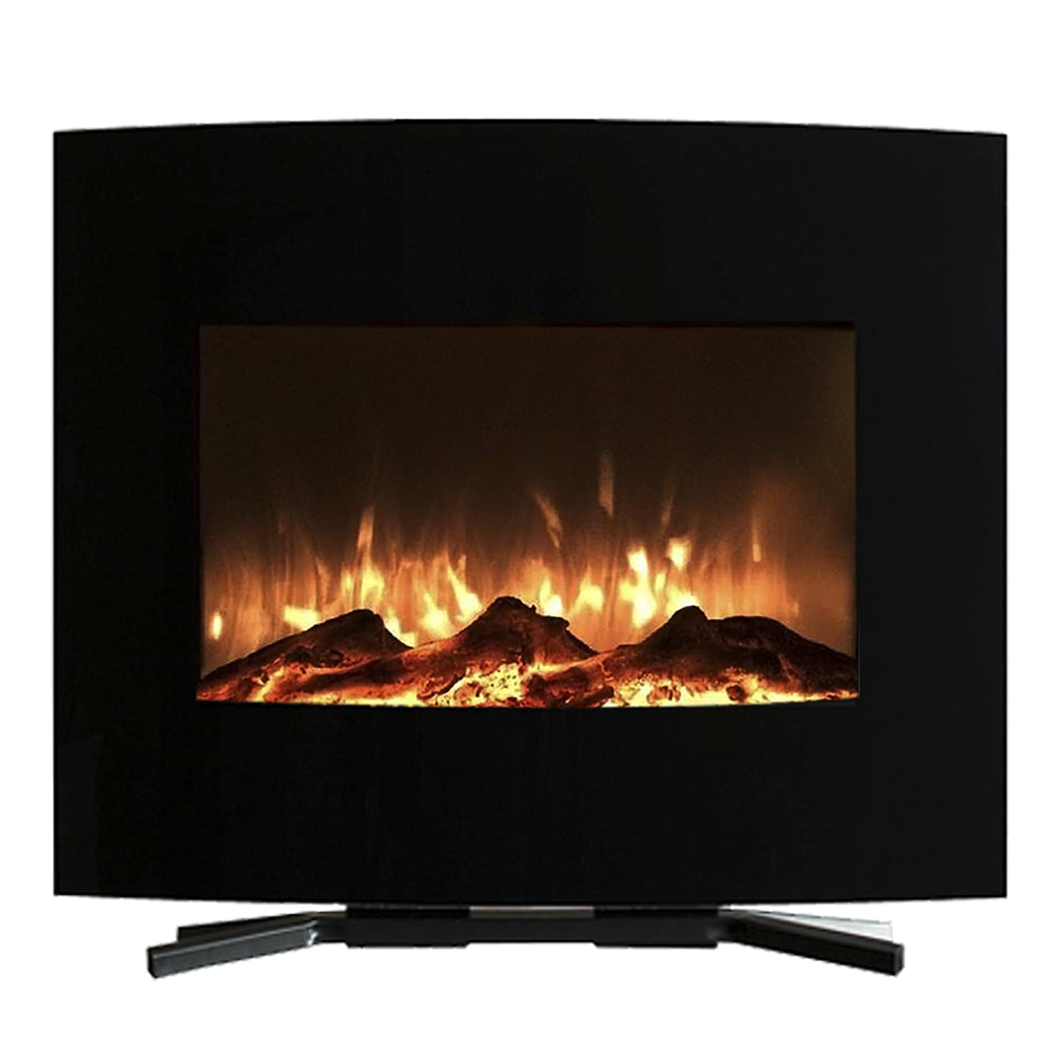 with Remote Black 42 Northwest Electric Fireplace Wall Mounted LED Fire and Ice Flame