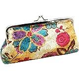Sanwood Women's Coin Purse Flower Pouch Wallet Money Bag