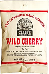 Clay Foods - Claeys' Hard Candy - Pick a Flavor - Anise, Apple, Assorted Fruit, Cherry, Cinnamon, Horehound, Lemon, Licorice, Peppermint, Root Beer, Sassafras, or Watermelon - 6 oz Bag (cherry)