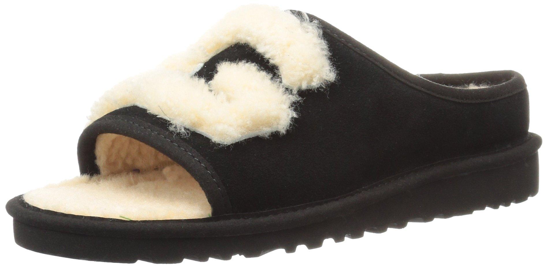 UGG Women's Slide Slipper, Black/Natural, 8 M US