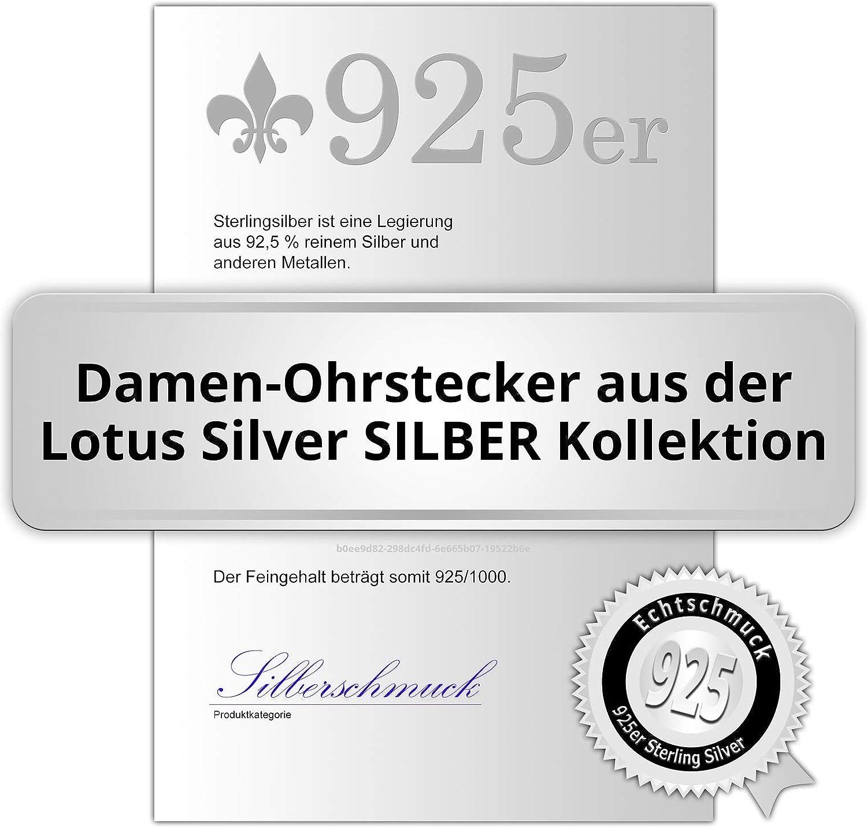 Pendientes de plata de ley 925 con circonitas Lotus Silver LP1252-4//2 JLP1252-4-2