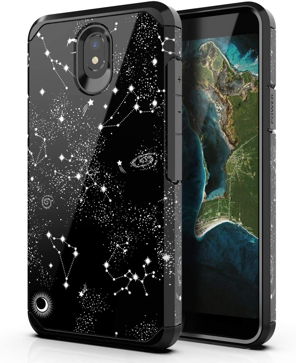 Amazon Com Pbro Lg K30 2019 Case Lg Escape Plus Case Lg Arena 2 Case Lg Journey Lte Case Cute Universe Case Dual Layer Soft Silicone Hard Back Cover Heavy Duty Pc Tpu Protective Shockproof Case Black