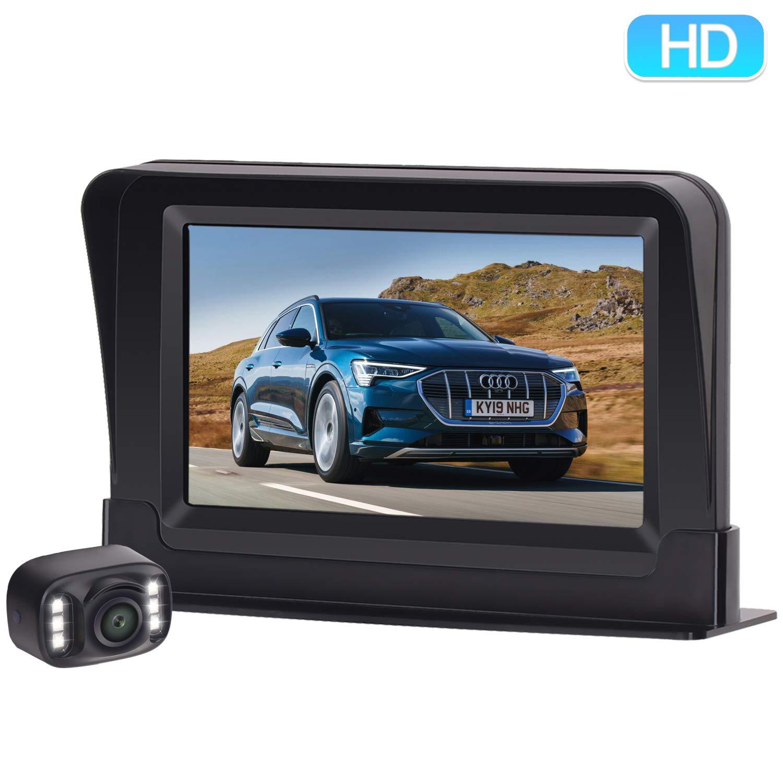ZSMJ Backup Camera and Monitor Kit HD 720P Easy Installation for Car/Suv/Pickup/Truck/Van/RV/Trailer Single Power Rear View System Driving/Reversing Use IP68 Waterproof Night Vision by ZSMJ