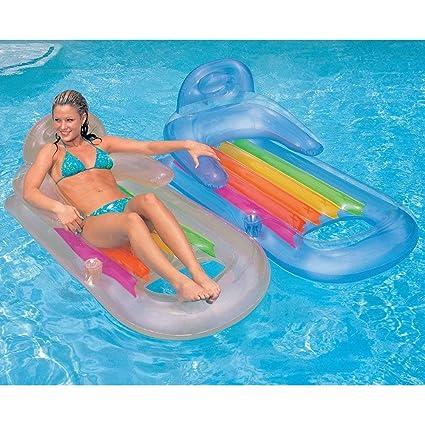 Juego de dos sillones hinchables de piscina de gran ...