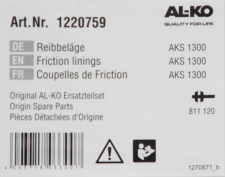 NN Coppia di pastiglie per Frizione al-KO AKS 1300 Antischlinglung Ganasce Freno Set di pastiglie