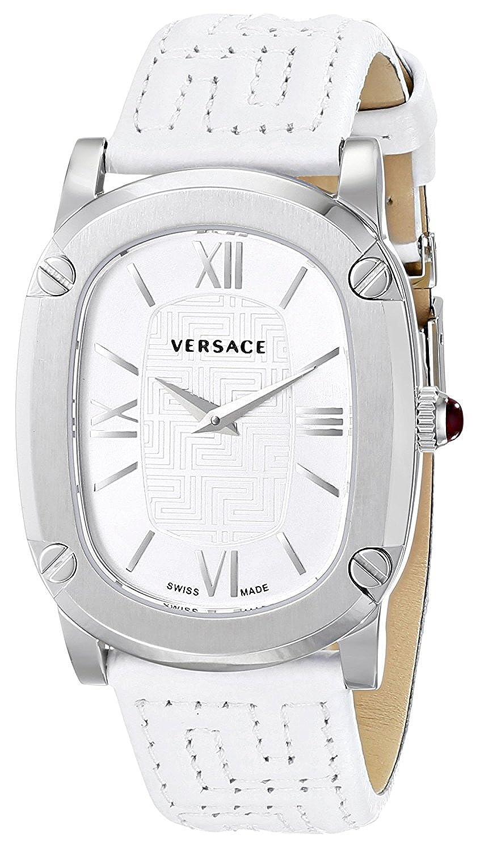 [ヴェルサーチ]Versace 腕時計 COUTURE Stainless Steel Watch with White Leather Band VNB020014 レディース [並行輸入品] B07572S316