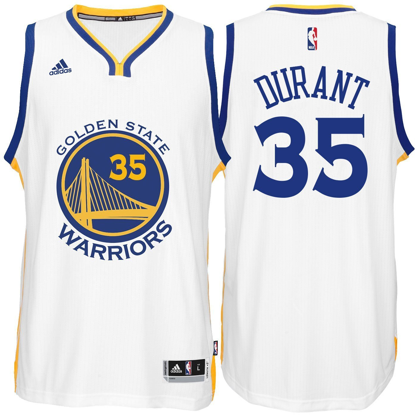 8724094477f Amazon.com : adidas Kevin Durant Golden State Warriors White Youth Swingman  Home Jersey (Large 14/16) : Clothing