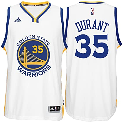 9a9b8431ab8 adidas Kevin Durant Golden State Warriors White Youth Swingman Home Jersey  (Large 14 16