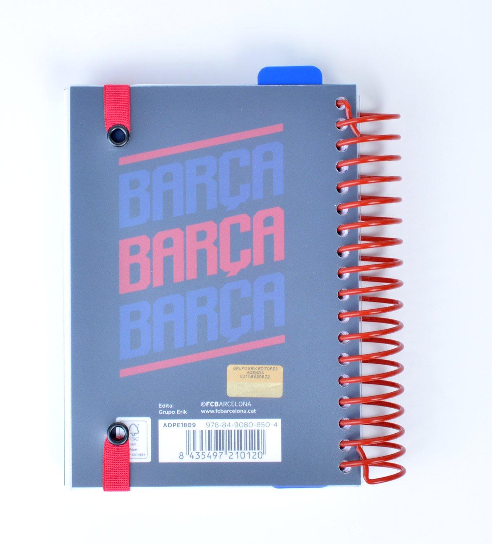 Grupo Erik Editores ADPE1809 - Agenda escolar con espiral en español FC Barcelona, 11.4 x 16 cm