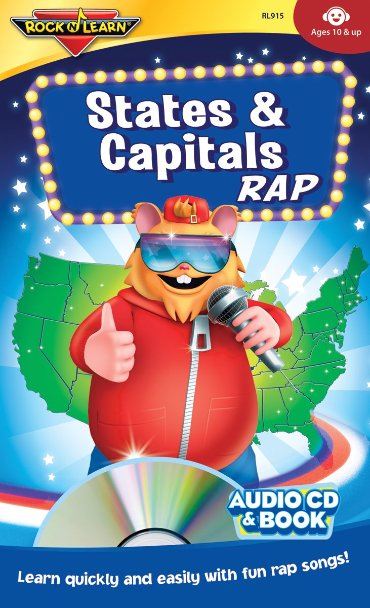 States & Capitals Rap Audio CD and Book by Rock 'N Learn