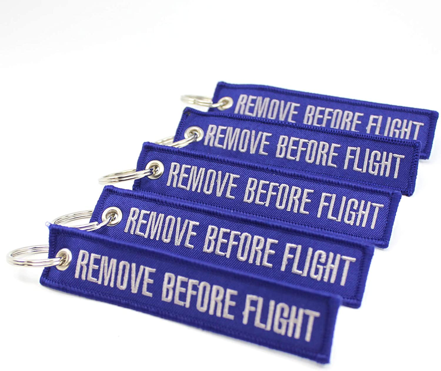 Blue//Gray by Rotary13B1 Remove Before Flight Keychain