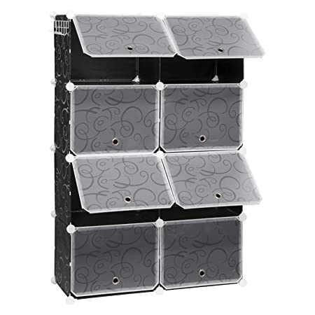 Scarpiere Componibili In Plastica.Eugad Scarpiera Componibile Traslucido A Cubi Con 8 Ante