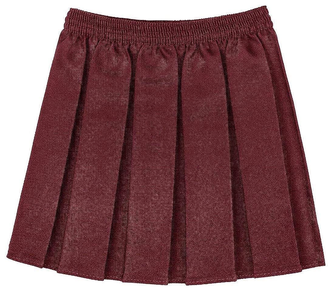aa9787761c RIDDLED WITH STYLE Girls Kids School Uniform Box Pleated Elasticated Waist  Skirt: Amazon.co.uk: Clothing