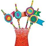 Fun Express Fiesta Party Paper Straws - 24 pieces