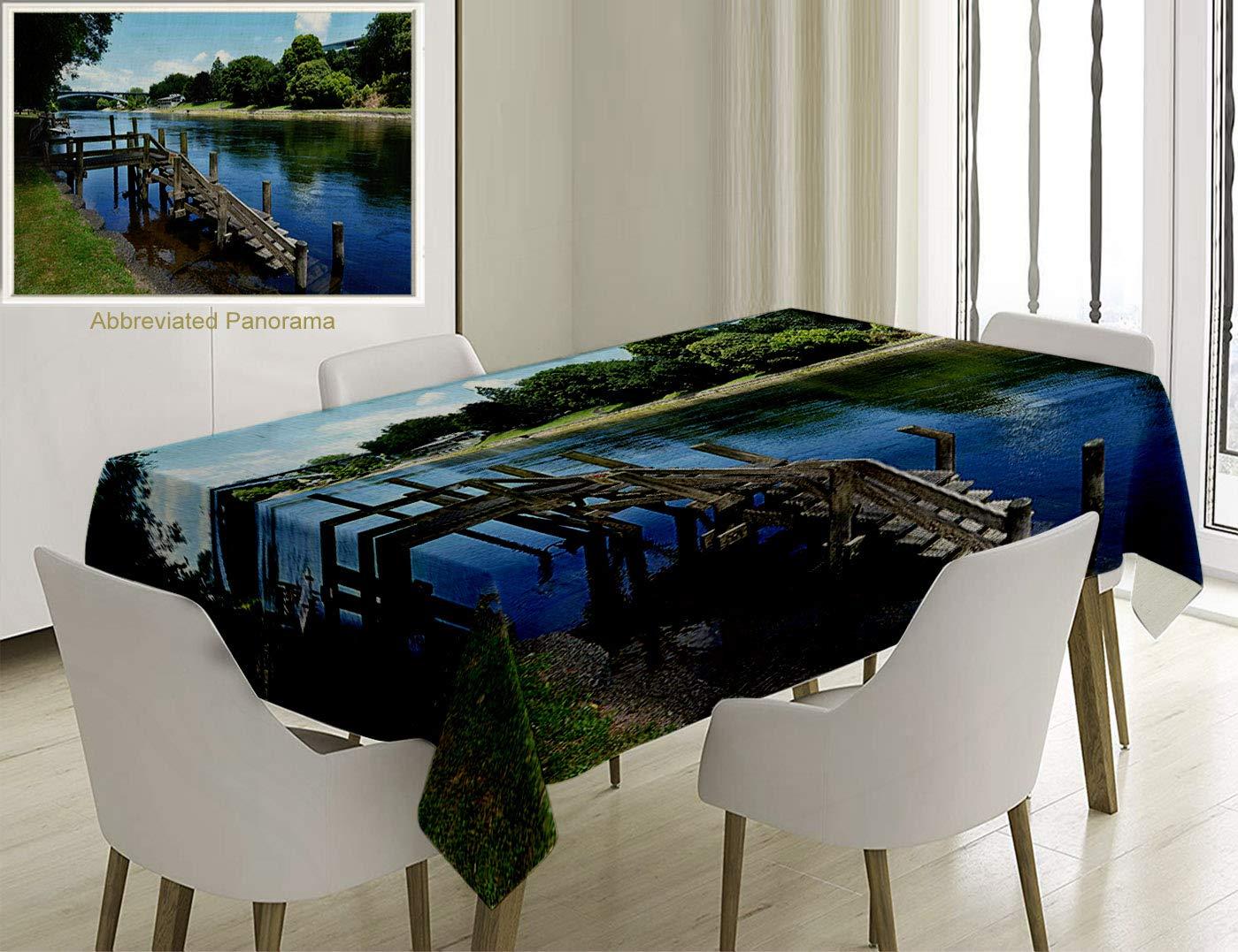 Outdoor waikato river hamilton city new zealand holiday destination travel landmark green blue greytablecovers for rectangle tables 78 x 54 inches