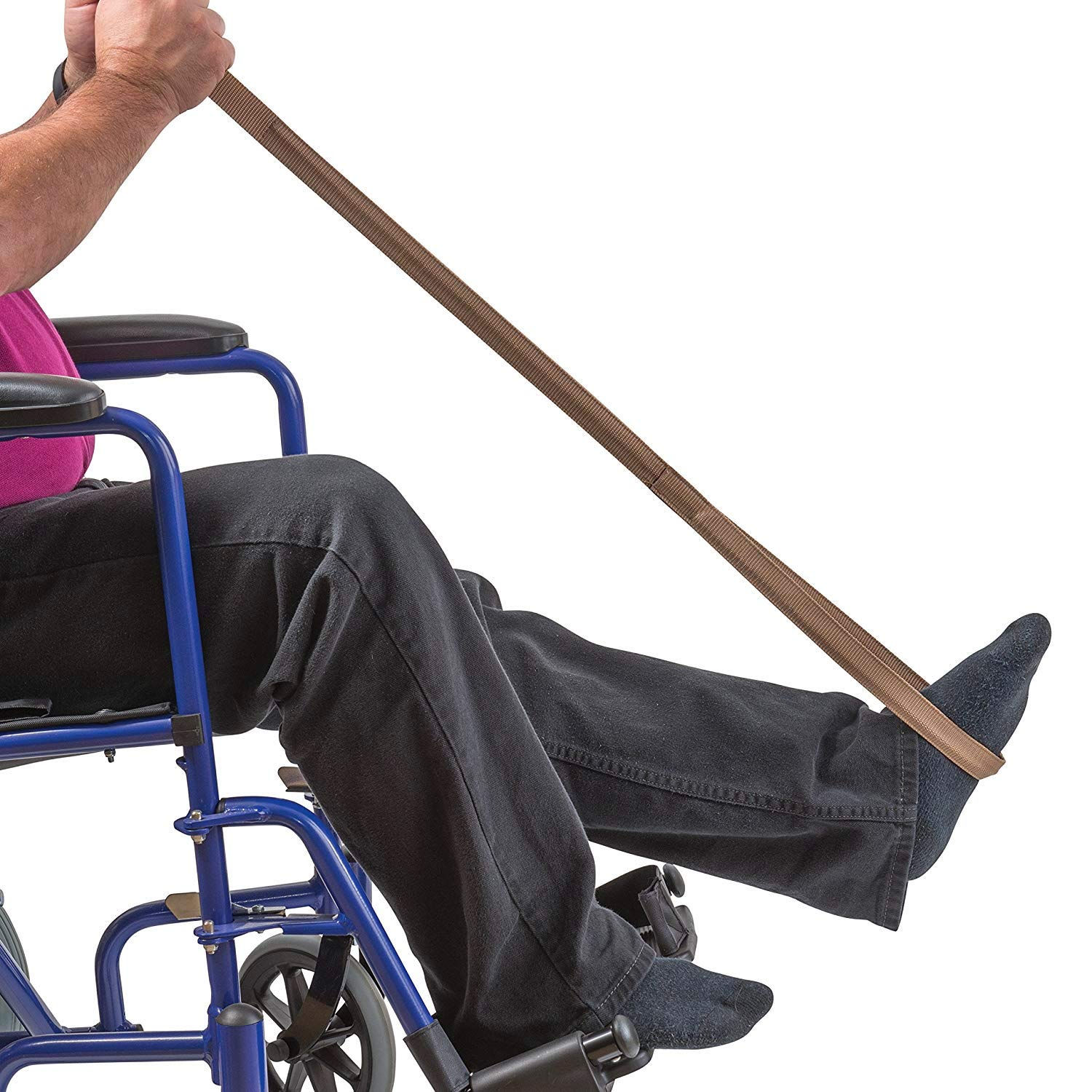 Leg Lifter Strap helps Increase Mobility and Maneuverability on Injured,  Elderly or Disabled with Foot Loop