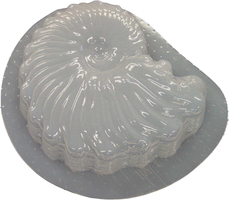 Seashell Shaped Stepping Stone Concrete Plaster Mold 7206