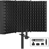 Aokeo Professional Studio Recording Microphone Isolation Shield, Pop Filter.High density absorbent foam is used to filter voc