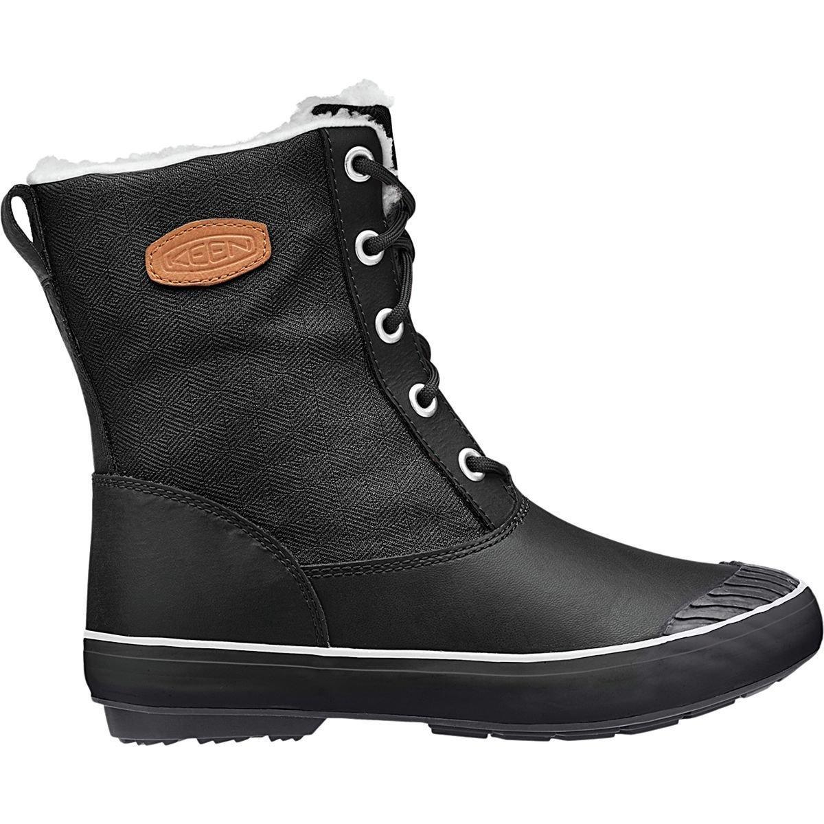 KEEN Women's Elsa Boot Waterproof Winter Boot, Black, 7 M US