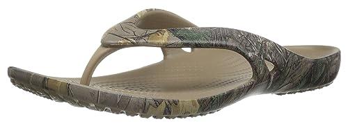 Crocs Women's Kadee Ii Realtree Xtra W Flip Flop, Khaki, ...