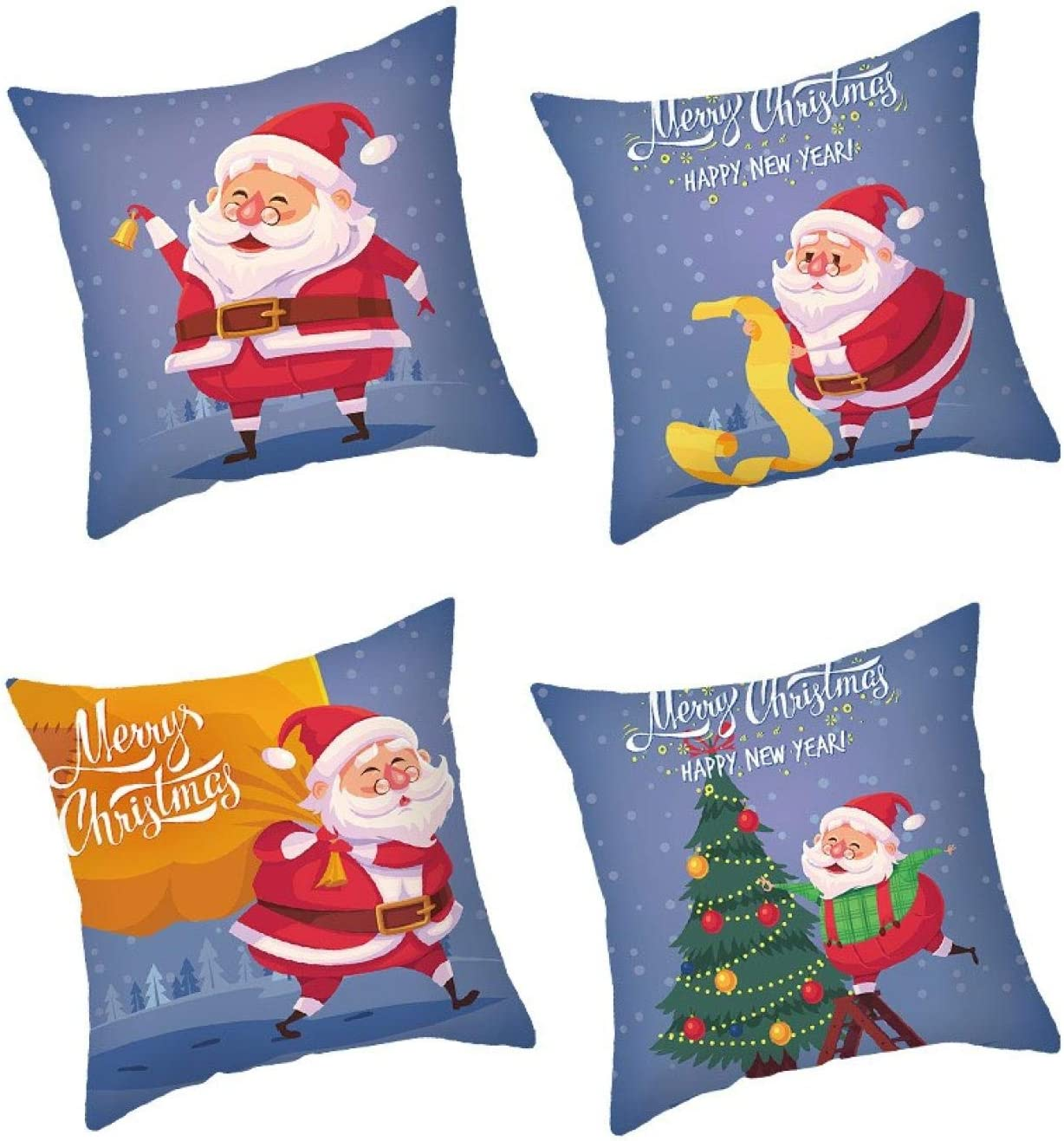 4PC Throw Pillow Covers Christmas Series