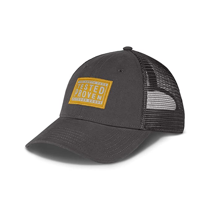 58e22e46afd The North Face Mudder Trucker Hat (Graphite Grey arrowwood Yellow High Rise  Grey
