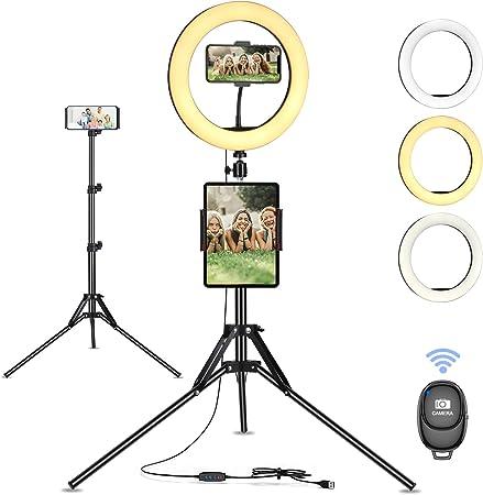 10 Zoll Ringlicht Mit Stativ Selfie Ringleuchte Live Kamera