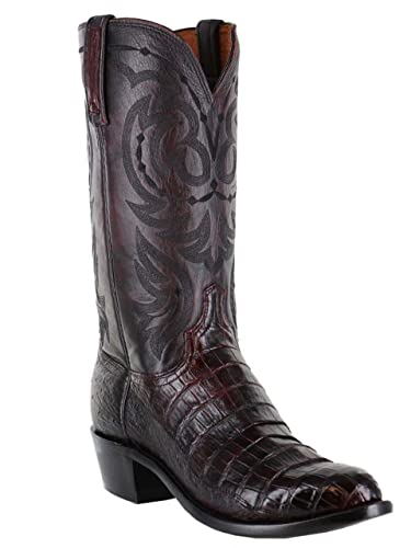 c986d0214e9 Amazon.com | Lucchese Men's N1141.R4 Caiman Belly and Ostrich Exotic ...