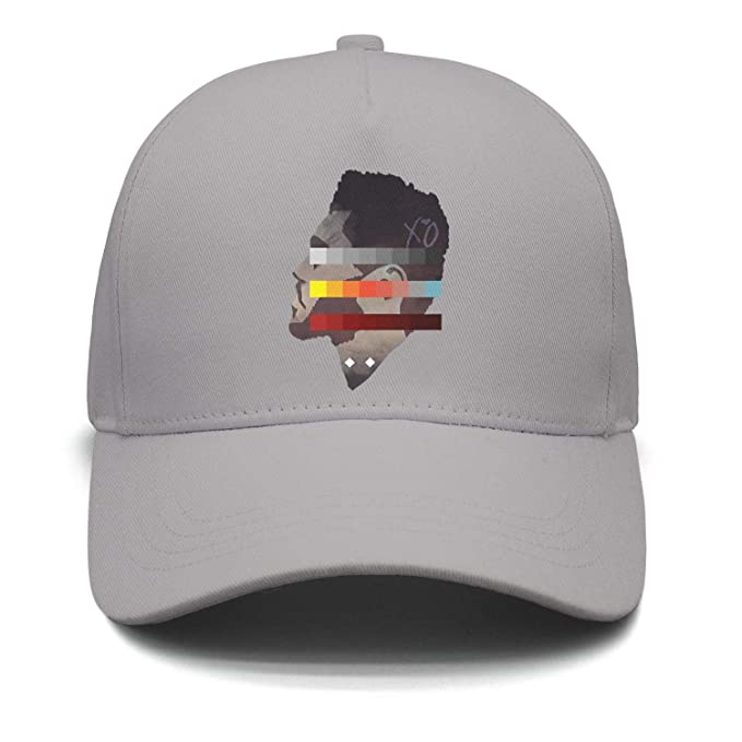 Image Unavailable. Image not available for. Color  The Weeknd Side Face  Colorful Painting Unisex Grey Trucker Hat for Mens Womens Chassic Caps 7d960013625a