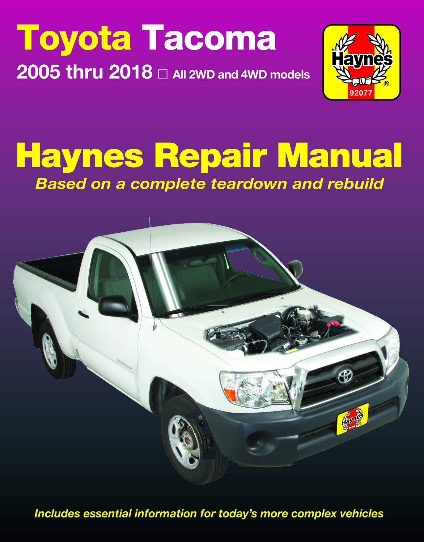 Amazon.com: Toyota Tacoma, 2006-2018 Haynes Repair Manual ...